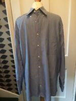Gant Washer Oxford XL Regular Fit Blue  striped cotton long sleeve Shirt