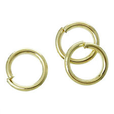 Open Jump Ring Circle Ring Findings Gold Plated 6mm 1000 Pcs