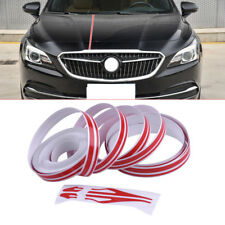 Red 12mm Car Auto Vinyl Double Line Pinstripe Streamline Stripe Tape Sticker New