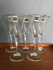 Royal Doulton FUSiON Silver Rim Goblets set of 5 New With Labels
