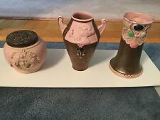 Three Art Nouveau pieces Schafer and Vater pink ladies and jewels