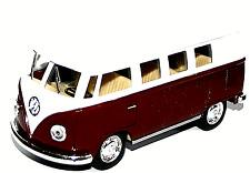 Volkswagen Van Bus 1962 Classic Twin Screen Bus Model Opening Doors by Kinsmart