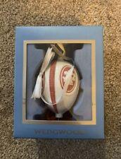 Wedgwood Christmas Red White Jasperware Ornament