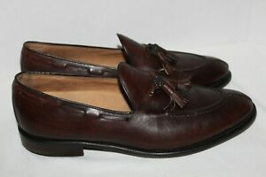 Men's~ROCKY~Dark Brown~LEATHER~Dress SHOES~Tassels~SLIP ON~Size 12 N~Made in USA