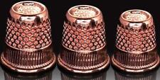Hemline Rose Gold Thimbles - 3 Sizes 15mm/16mm/17mm - Gift Haberdashery Sewing