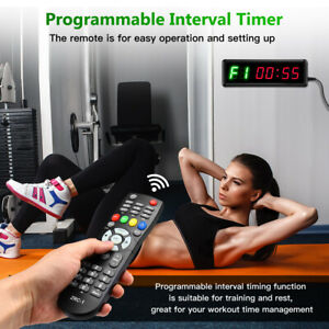 """1.5"""" LED Display Interval Timer Count Up/Down Stopwatch for Fitness Training"""