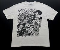 Vintage Too Die For Ink Daggers Tattoo Art Tee White Black Size XL Mens T Shirt