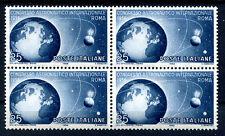 ITALIA 1956 - CONGRESSO ASTRONAUTICO  QUARTINA NUOVA **