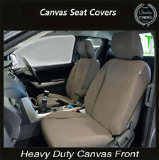 TOYOTA LANDCRUISER GX GXL CANVAS WATERPROOF SEAT COVERS FRONT PAIR - AIRBAG SAFE