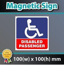 Azul Pasajero Discapacitado Badge Holder Vinilo Coche Pegatina Calcomanía Imán Magnético