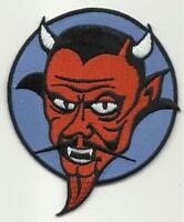 DEVIL red devil 2014 shaped - EMBROIDERED - IRON/SEW ON PATCH import