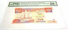 Singapore ND(1988) 10 Dollars P-20 GEM UNC PMG 58 EPQ