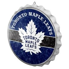 Toronto Maple Leafs Bottle Cap Wall Sign Distressed Room Bar Decor Metal 13.5""