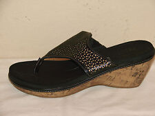 Dr. Scholl's Womens Black Flip Flop Wedge Sandal Shoe - Size 6.5M