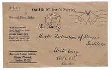 Q120 1945 London to Tallow, Berks. OHMS
