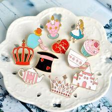 Enamel Pin Badges - Set of 14 - Alice in Wonderland Looking Glass - EB0034