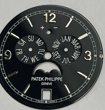 Moon Phase Watch Black Dial Patek Philippe 5146 Complications Annual Calendar