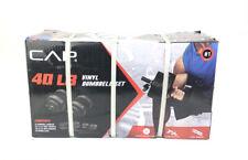 40 lb Adjustable Dumbbell Weight Set CAP Vinyl Set NEW HAS BOX WARE SEE DETAILS