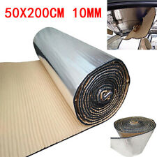10mm Auto Car Firewall Heat Shield Insulation Sound Deadener Material Mat 50*200
