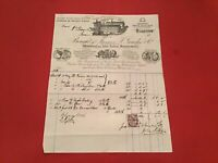 James T Goudie & Co 1882 Glasgow Mattresses for Ships stamped receipt R35731