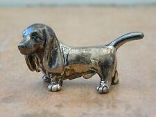 LOVELY DETAIL MINIATURE HALLMARKED 925 SILVER DASCHUND DOG MODEL FIGURE FIGURINE