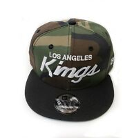 Los Angeles Kings New Era 9Fifty Army Camo Vintage Script Snapback Hat Cap NHL