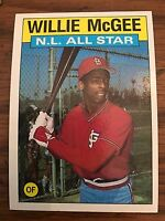 1986 Topps Willie Mcgee St Louis Cardinals All Star 707