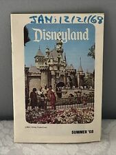 New ListingVery Rare Summer 1968 Disneyland Park Guest Guidebook Brochure & Park Map