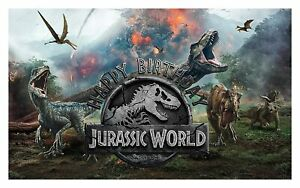 New Jurassic World Birthday Party Supplies Tableware & Decorations