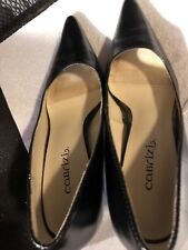 "Shoes, CABRIZI, black pointed toe classic pumps, 3"" heel, SZ: 7 1/2M"