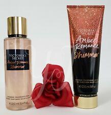 VICTORIA SECRET - AMBER ROMANCE SHIMMER - FRAGRANCE LOTION N MIST (SET) - NEW