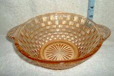 Brown Art Deco Ciotola di vetro pressato. per insalata o frutta o solo decorativo. V G C.