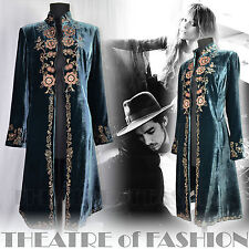COAT JACKET VELVET SILK VINTAGE LAURA ASHLEY 70s 60s BOHO WEDDING 30s VAMP DANDY