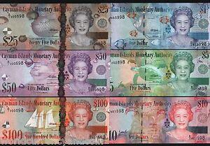 CAYMAN ISLANDS 1 5 10 25 50 100 DOLLARS 2010 2011 QUEEN TURTLE UNC COMPLETE SET