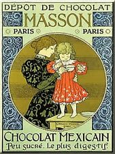French Advertising Art Deco Sign Masson Chocolate Drink