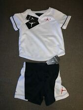 Nwt Boys Toddler Jordan 2 Pc Short Set White Black Bred Sz 12M, 18M, 2T, 4T $40