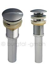 Burgtal AB-5 Pop-Up Ablaufgarnitur Ablaufventil für Waschbecken ohne Überlauf