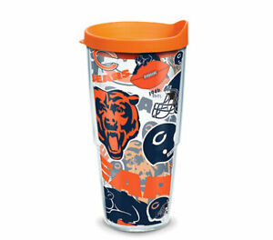 CHICAGO BEARS, 24oz DOUBLE WALL,  TUMBLER FROM TERVIS  WITH LID INCLUDED