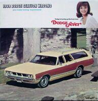 1969 Dodge Monaco Polara Coronet Sportsman Station Wagon Original Sales Brochure