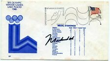 Muhammad Ali Signed 1980 Lake Placid Olympic Games FDC 1st Day Cover Auto