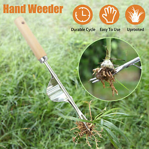 Manual Hand Weeder Super Easy Weed Root Removal Garden Lawn Weeding Puller Tool
