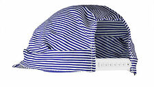 NEW US TOY ENGINEER HAT BLUE AND WHITE STRIPES, VALUE TRAIN DRIVER HAT