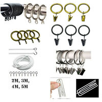Metal Curtain Rings Clips Hanging Curtain Pole Rod voile Net Rings Curtain Wire