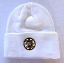 72354d7986c Boston Bruins Hockey NHL White Cuff Reebok Beanie Stocking Cap Hat