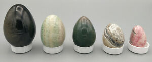 Five Polished Stone Mineral Eggs