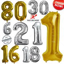 102cm Gigante Edad 1st/ 16/ 18/21/ 30/40/50/ 60/70/ 80th Cumpleaños Aluminio