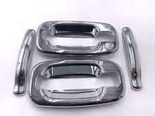 For 99-06 Silverado GMC Sierra Pickup Crew Cab Chrome Handle Cover 1 keyholes