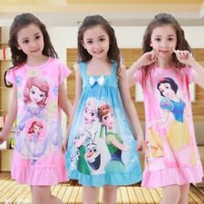 Vestidos De Princesas Para Meninas Crianças Cartoon Roupas Anna Elsa fantasia de verão