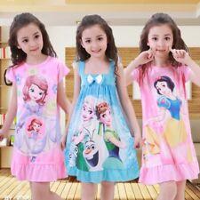 Vestidos De Princesa Para Niñas Prendas de vestir Dibujos animados Niños Anna Elsa Disfraz De Verano