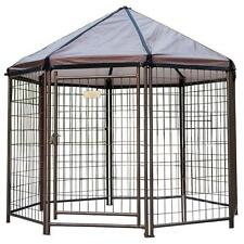 Medium Outdoor Dog Kennel House Crate Cage Enclosure Pet Gazebo Patio Deck Yard